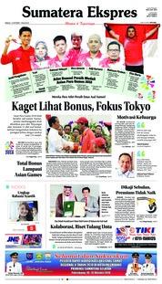 Cover Sumatera Ekspres 14 Oktober 2018
