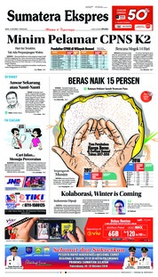 Cover Sumatera Ekspres 15 Oktober 2018