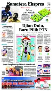 Cover Sumatera Ekspres 23 Oktober 2018