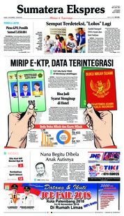 Cover Sumatera Ekspres 15 November 2018