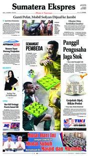 Cover Sumatera Ekspres 17 November 2018