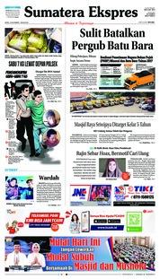 Cover Sumatera Ekspres 19 November 2018