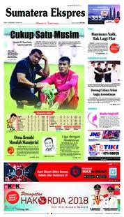 Cover Sumatera Ekspres 10 Desember 2018