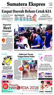Cover Sumatera Ekspres 11 Desember 2018