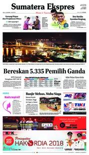 Cover Sumatera Ekspres 12 Desember 2018
