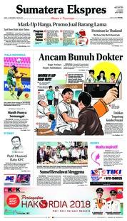 Cover Sumatera Ekspres 15 Desember 2018