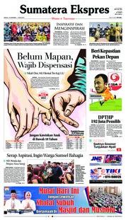 Cover Sumatera Ekspres 16 Desember 2018