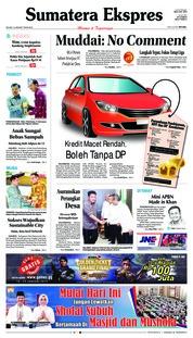 Cover Sumatera Ekspres 15 Januari 2019