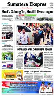 Cover Sumatera Ekspres 16 Januari 2019
