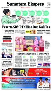Cover Sumatera Ekspres 17 Januari 2019