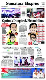 Cover Sumatera Ekspres 18 Januari 2019
