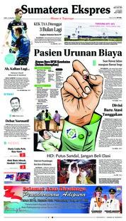 Cover Sumatera Ekspres 19 Januari 2019