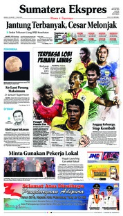 Cover Sumatera Ekspres 20 Januari 2019
