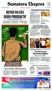 Cover Sumatera Ekspres 22 Januari 2019