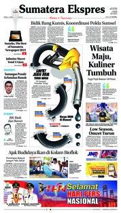 Cover Sumatera Ekspres 10 Februari 2019