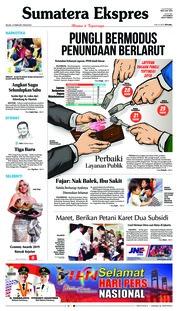 Cover Sumatera Ekspres 12 Februari 2019