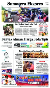 Cover Sumatera Ekspres 14 Februari 2019