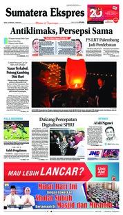 Cover Sumatera Ekspres 18 Februari 2019