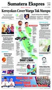 Cover Sumatera Ekspres 19 Februari 2019