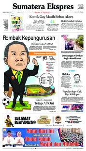 Cover Sumatera Ekspres 21 Februari 2019