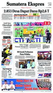 Cover Sumatera Ekspres 22 Februari 2019