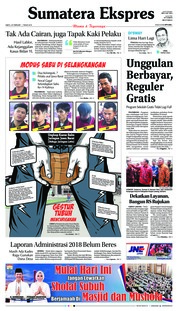 Cover Sumatera Ekspres 23 Februari 2019