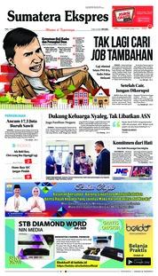 Cover Sumatera Ekspres 13 Maret 2019