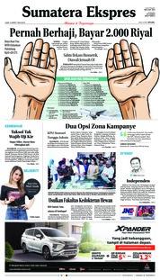 Cover Sumatera Ekspres 15 Maret 2019