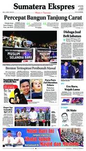 Cover Sumatera Ekspres 16 Maret 2019