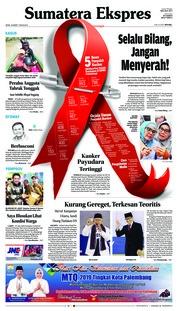 Cover Sumatera Ekspres 18 Maret 2019