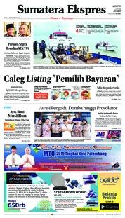 Cover Sumatera Ekspres 21 Maret 2019