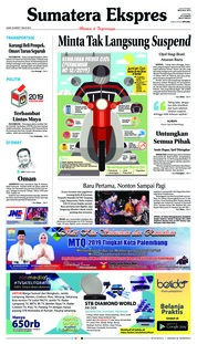 Sumatera Ekspres Cover 22 March 2019