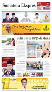 Cover Sumatera Ekspres 12 April 2019