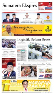 Cover Sumatera Ekspres 13 April 2019