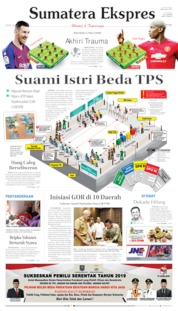 Cover Sumatera Ekspres 16 April 2019