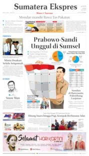 Cover Sumatera Ekspres 20 April 2019
