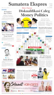 Cover Sumatera Ekspres 21 April 2019