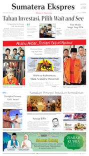 Cover Sumatera Ekspres 25 April 2019