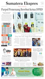 Cover Sumatera Ekspres 26 April 2019