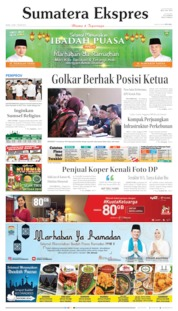 Sumatera Ekspres Cover 13 May 2019