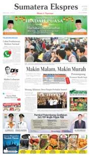 Sumatera Ekspres Cover 26 May 2019