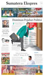 Cover Sumatera Ekspres 14 Juni 2019