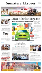 Sumatera Ekspres Cover 20 June 2019