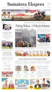 Cover Sumatera Ekspres 22 Juni 2019