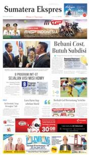 Cover Sumatera Ekspres 24 Juni 2019