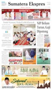 Cover Sumatera Ekspres 10 Agustus 2019