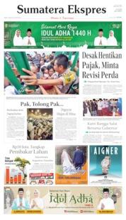 Cover Sumatera Ekspres 12 Agustus 2019