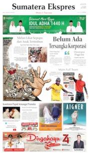 Cover Sumatera Ekspres 14 Agustus 2019