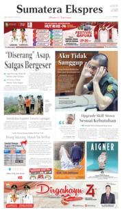 Cover Sumatera Ekspres 16 Agustus 2019