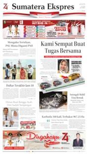 Cover Sumatera Ekspres 17 Agustus 2019